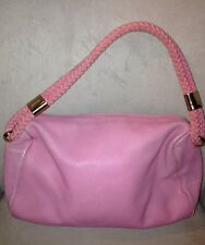 "Kate Spade New York ""Parker"" Pink Purse With Woven Strap Authentic Retails $358"