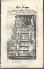 The Mirror 1829  Grosvenor Gallery Park Lane Plate & 1 side text