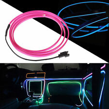 Purple 3M Flexible Neon Light Glow EL Wire Rope Tube Cable Strip LED Car Party
