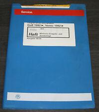 Werkstatthandbuch VW Golf 3 III Typ 1H Vento Motronic Einspritzanlage Zündanlage