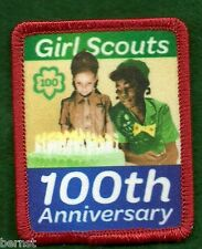 GIRL SCOUT 100th ANNIVERSARY PATCH - FREE SHIPPING