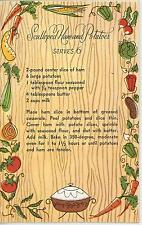 VINTAGE VEGETABLES SCALLOPED HAM POTATOES RECIPE PRINT 1 AFTERNOON TEA CUP CARD