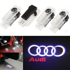4x LED Car Door Logo Welcome Shadow Light Courtesy Laser For Audi A4 A6 A8 Q7 B1
