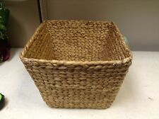 Hyacinth Woven Seagrass Toy Storage Organizer Bath Kitchen Basket 13x13x10