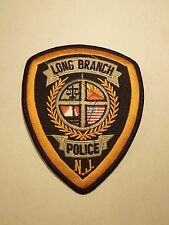 Vintage Long Branch Police Department New Jersey Embroidered Iron On Patch 2