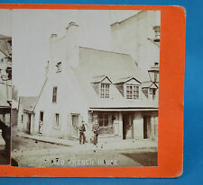 1870s Canadian Scenery Stereoview Quebec Old French House By L P Vallee
