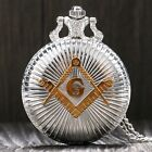 New Arrival Silver Free and Accepted Masons Design Pocket Watch Gift Pendant
