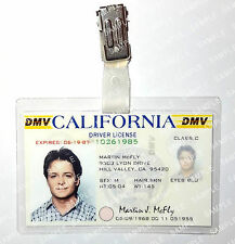 Back To The Future Marty Mcfly ID Badge Drivers License Prop Cosplay Halloween