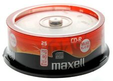 Maxell cd-r audio vierge cdr xl-II 80 25 pack * gratuit p & p * audio music cd neuf