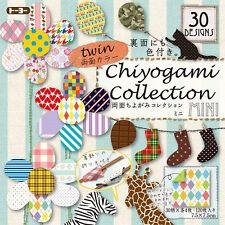 """120 Sheets (30 Design) Japanese 3"""" Origami Artwork Folding Paper Washi Chiyogami"""