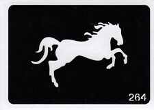 GT264 Body Art Temporary Glitter Tattoo Stencil Horse