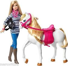 Barbie Loves her Horse Life in the Dreamhouse Barbie Doll & White Horse New