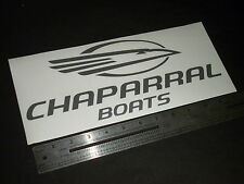 "Chaparral Boats Large Silver Metallic Decal 12"" Sticker"
