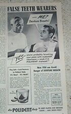 1946 old ad - Polident False Teeth dentures dental products vintage ADVERTISING