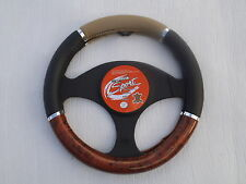 FORD TRANSIT VAN STEERING WHEEL COVER SWC P 17 M BEIGE MAHOGANY LEATHERETTE