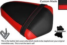 BLACK & RED CUSTOM FITS KAWASAKI NINJA EX 300 13 REAR LEATHER SEAT COVER