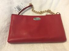 NWT Coach F52709 Pebbled Leather Quinn Crossbody Bag, Red (IME8B)