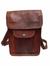 Genuine Real Leather Shoulder Satchel Bag Messenger Vintage Small Man Woman Tote