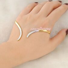 Silver/Gold tone punk cuff hand Palm bracelet bangle handlet fashion jewelry
