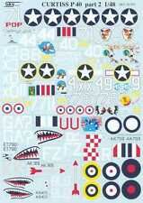 Sky Models Decals 1/48 CURTISS P-40 WARHAWK Fighter