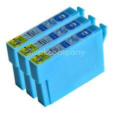 3 kompatible Tintenpatronen cyan für Drucker Epson SX235W S22 SX425W