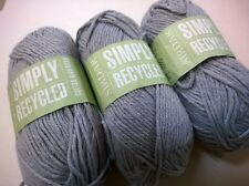 Knitting Yarn ~ Sirdar Simply Recycled Cotton Rich Aran shade 33 grey 50g balls