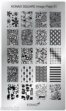 SQ01  Konad New Square Stamping Nail Art Image Plate Design template USA SELLER
