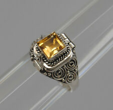 CITRINE CREMATION JEWELRY CITRINE URN RING SZ 7 SILVER CREMATION RING MEMORIAL