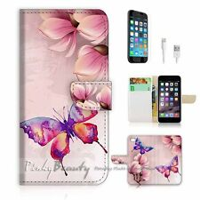 iPhone 6 Plus (5.5') Flip Wallet Case Cover! P0901 Butterfly