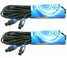 50 FT (2 PACK) SPEAKON TO SPEAKON PA DJ PRO AUDIO AMPLIFIER AMP TO SPEAKER CABLE