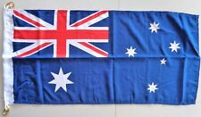 AUSTRALIA FLAG HEAVY DUTY WOVEN POLYESTER  AUSTRALIAN FLAG METAL CLIPS