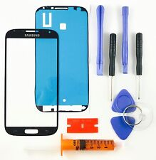 Samsung Galaxy S4 i9500 Black Front Glass Lens screen Replacement Kit+Tool Glue