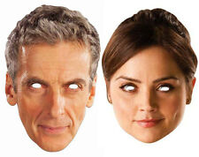 Peter Capaldi 12th Doctor Who and Clara Oswald Official CARD Face Masks 2 Pack