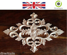 30 x 20 cm Exquisite Classic Wood Carved Centre Diamond Appliqué Furniture