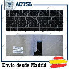 KEYBOARD SPANISH for ASUS Ul30 Silver Frame Black (White Printing)