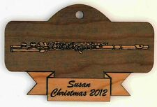 Personalized Flute Wooden Christmas Ornament (FREE SHIPPING)
