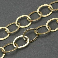 HIZE CH213 14K Gold Filled CHAIN-BY-FOOT CHAIN LINK CABLE Beads - 24""