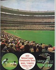 1972 Roberto Clemente Last HR Program Play-Off Pittsburgh Pirates Vs Reds MT
