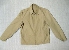 US NAVY USN KHAKI DECK JACKET WINDBREAKER 1960'S 40XL