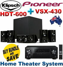NEW Klipsch HDT-600 Home Theater System +Pioneer VSX-430 5.1 Channel AV Receiver