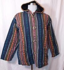 NEW UNISEX FAIR TRADE SIESTA ETHNIC HIPPY FESTIVAL COTTON LINED JACKET COAT L