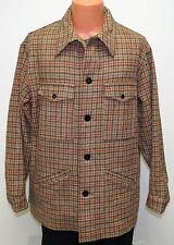 vtg Pendleton BROWN & BEIGE HOUNDSTOOTH Wool Jacket XL 70s Coat USA
