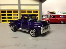 1/64 56 Ford Pickup in Purple with Black Int with Chrome Pkg.