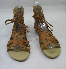 Summer NEW tan open toe lace up  WOMEN SHOES ROMAN GLADIATOR  SANDALS SIZE 7.5