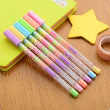 3X Korean Stationery Water Color Chalk Paint Gel Pen for Kids Diary Scrapbooking