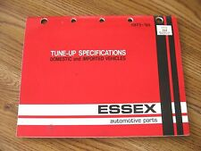 1965-'75 ESSEX Domestic Car & Imports TUNE-UP SPECIFICATIONS CHART or Catalog