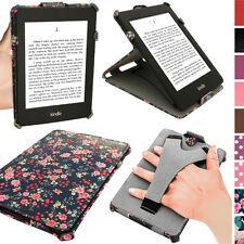 Pink Rose Blumen PU Leder Tasche Schutz Hülle für Amazon Kindle Paperwhite Case