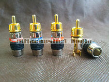 8x Gold Plated Monster RCA Plug Connector 8mm Cable Audio Plug HIFI Phono Jack