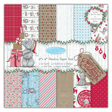 36 SHEET FULL PACK 8 x 8 ME TO YOU TATTY TEDDY CHRISTMAS CARD MAKING PAPER