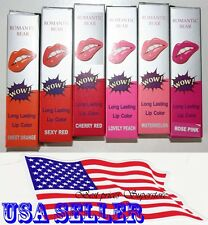 6pcs Colors Romantic Bear Wow Lip Gloss TATTOO Magic Peel Mask Tint Long Lasting